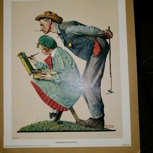 Norman Rockwell Litho Prints, The Critic, 8x10